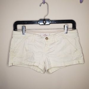 Pale yellow Hollister shorts